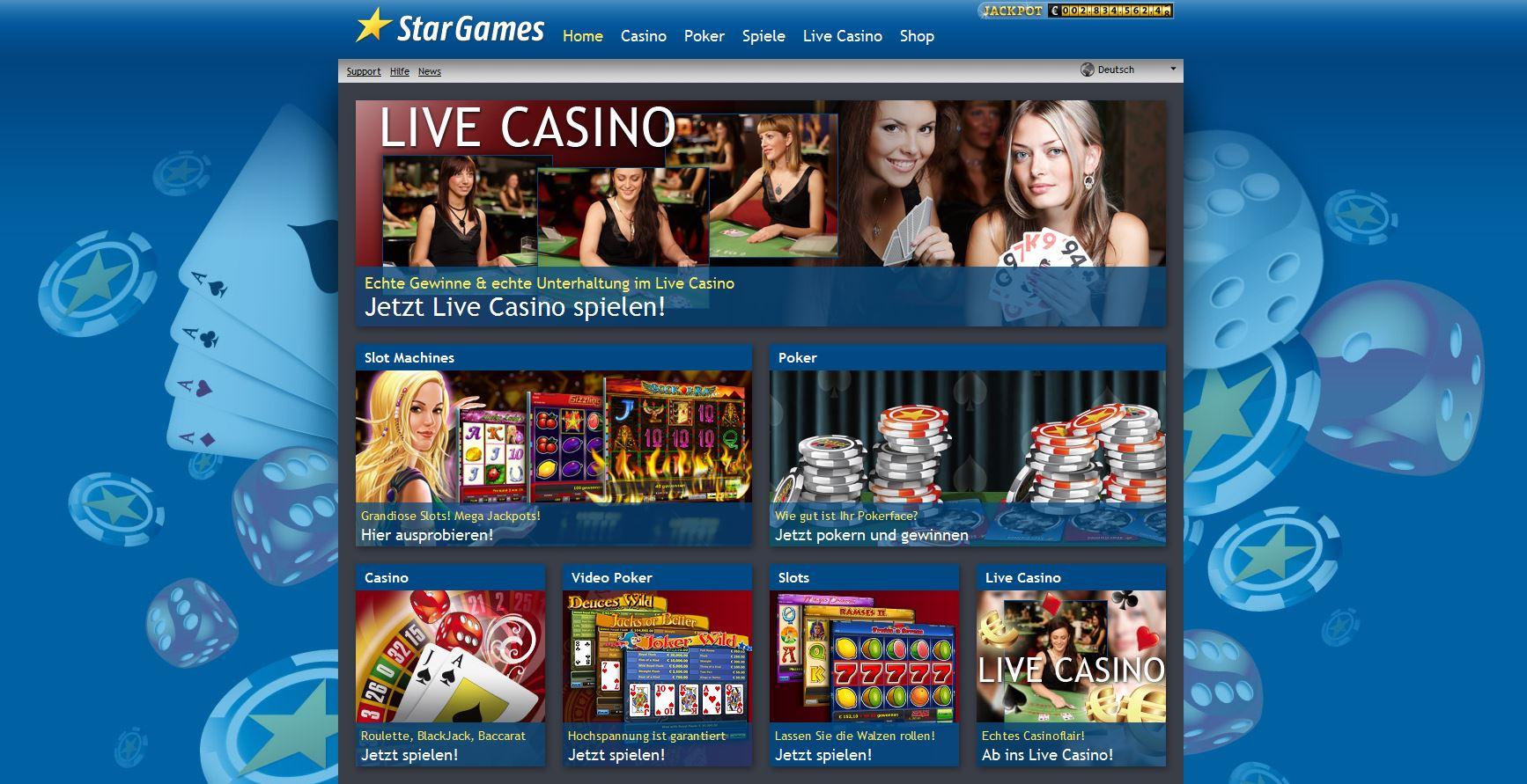 Stargames Einzahlung
